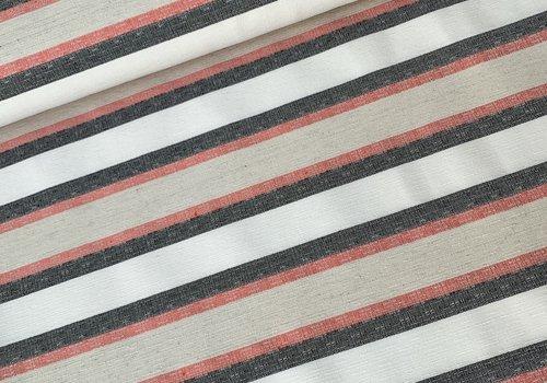 De Stoffenkamer Linen Mix Stretch Stripes