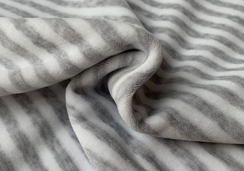 De Stoffenkamer Nicky Velours Stripes grey//White
