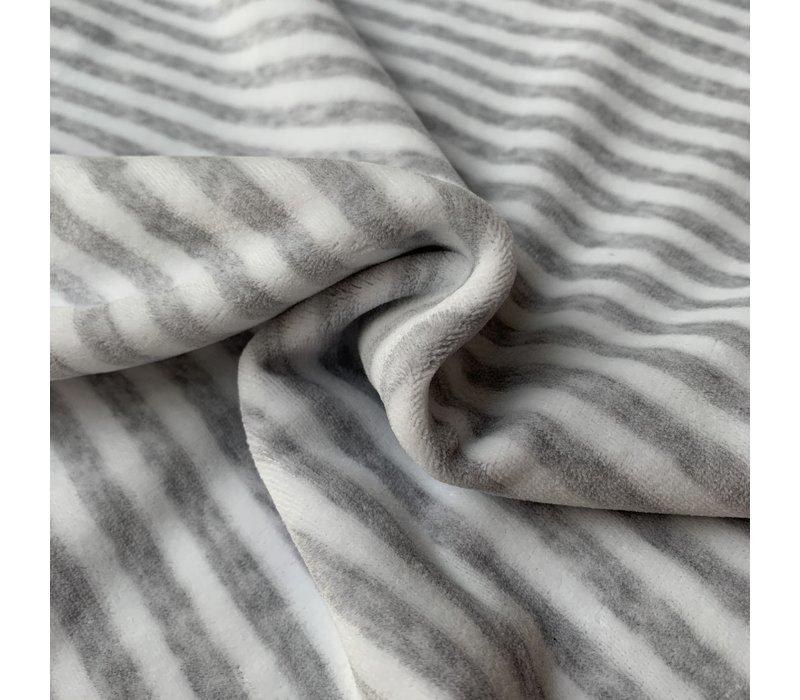 Nicky Velours Stripes grey//White