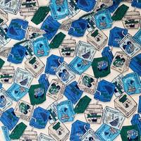 Cotton blue juice box