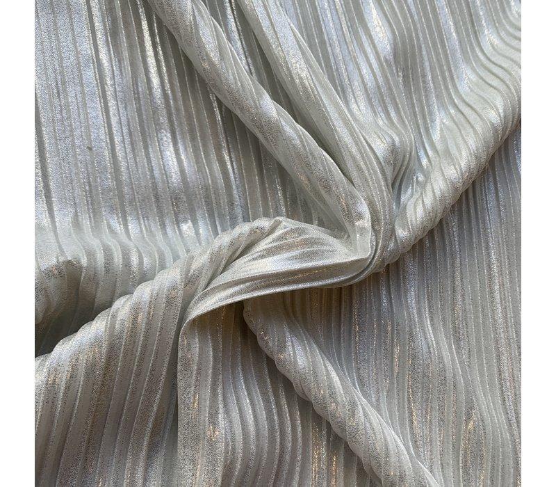 Plisse silverwhite shimmer