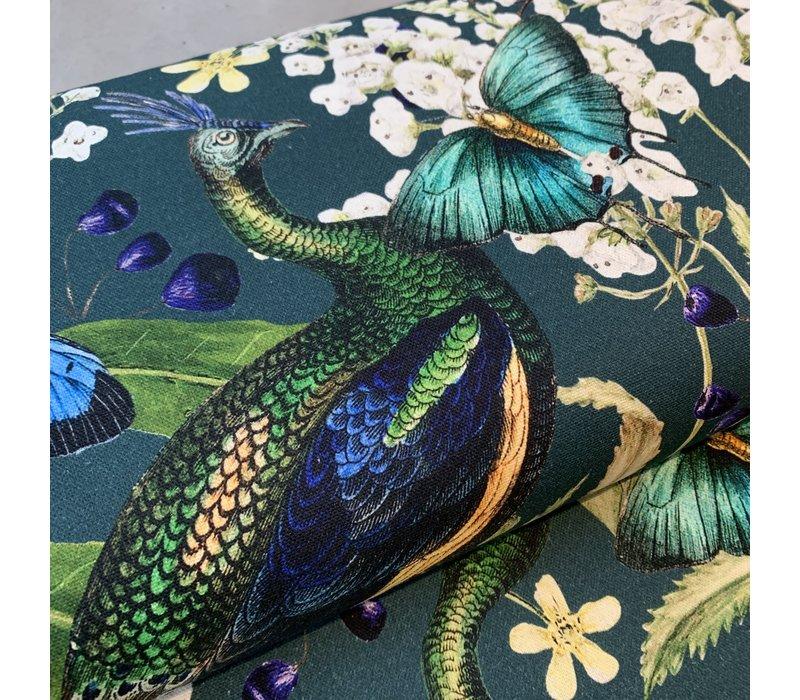 Canvas Petrol peacock