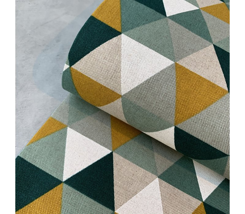 Canvas Triangles green