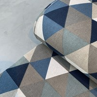 Canvas Triangles blue