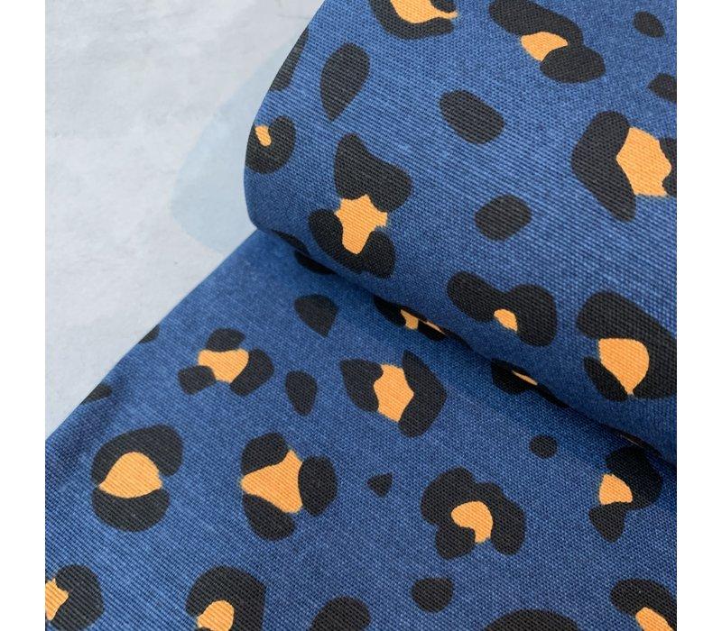 Canvas Leopard blue