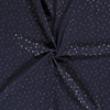 De Stoffenkamer Double Gauze Tetra navy gold dandelion