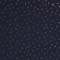 Double Gauze Tetra navy gold dandelion