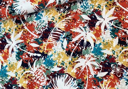 De Stoffenkamer Tricot bright colour jungle