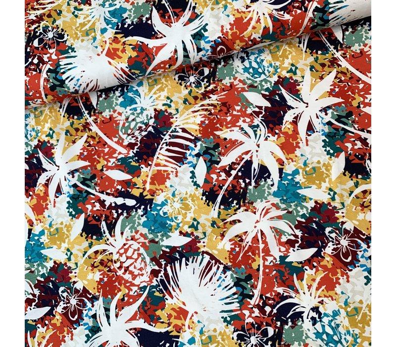 Tricot bright colour jungle