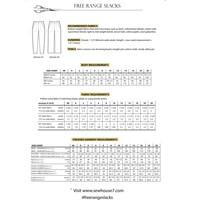 Patroon BROEK - Free Range Slacks