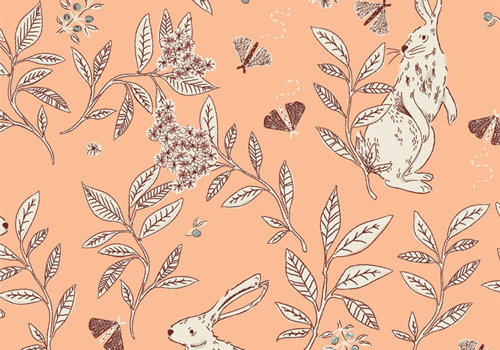 Art Gallery Cotton Cottontail Playful
