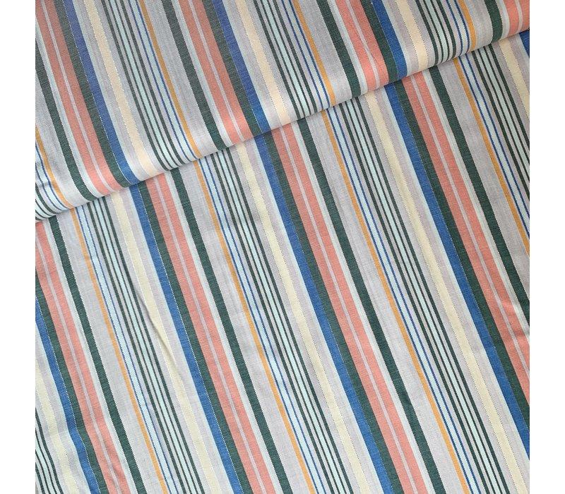 Twill Viscose Stripes Metallic