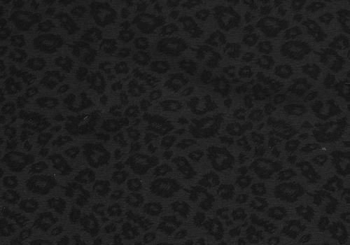 De Stoffenkamer Linen Mix Black Leopard structure