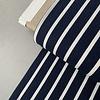 De Stoffenkamer Linen Mix Stripes Navy