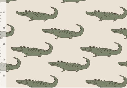 Elvelyckan Bio tricot - Crocs Creme