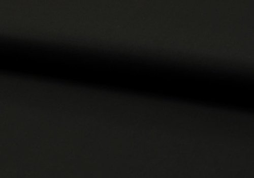 De Stoffenkamer Effen katoen zwart