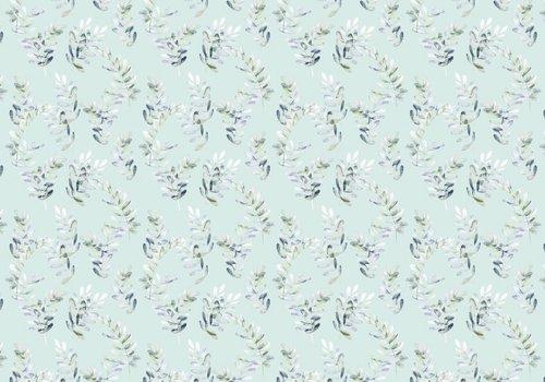 De Stoffenkamer Tricot Digital Mint Eucalyptus