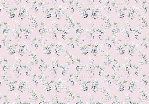De Stoffenkamer Tricot Digital Pink Eucalyptus