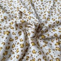 Tricot Broderie White Mini Leopard