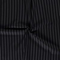 Linen Mix Stripes Black