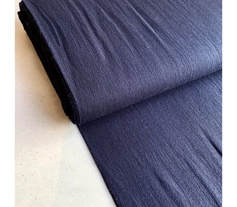 Wrinkle Cotton Navy
