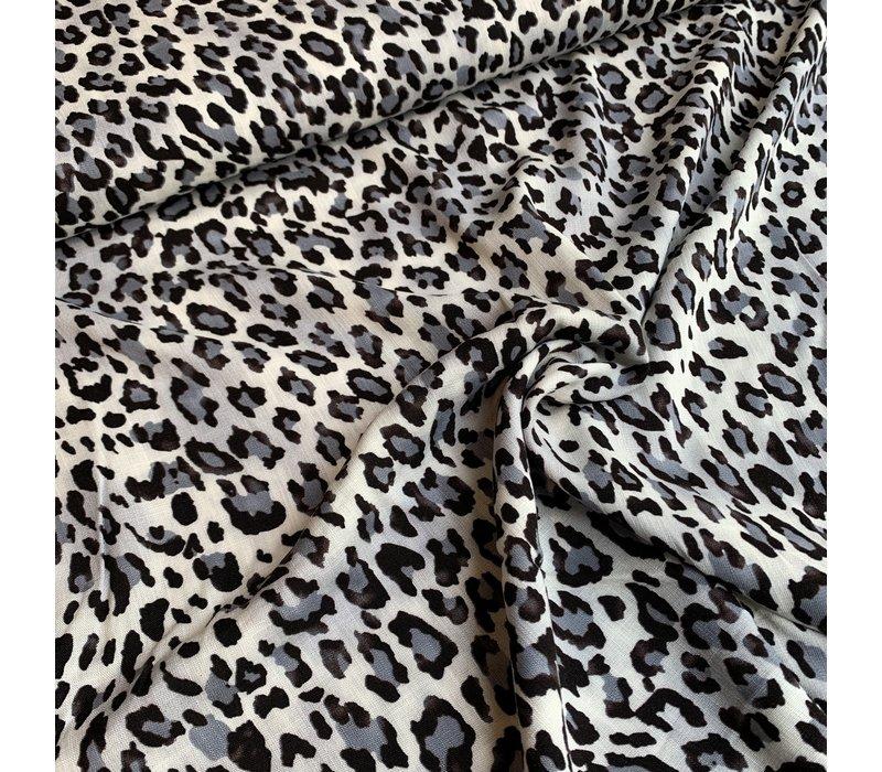 Blouse Viscose Grey Leopard