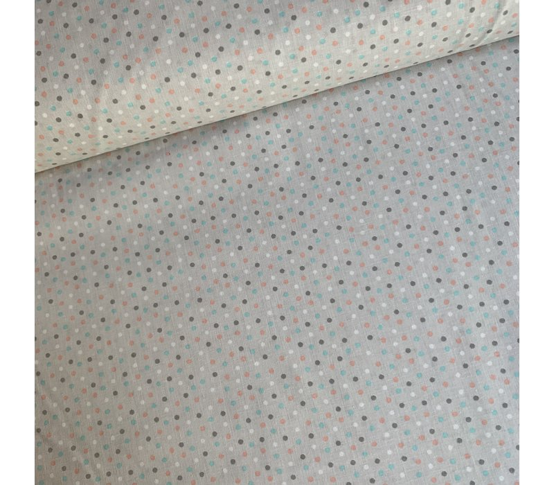 Cotton Lightgrey Dots