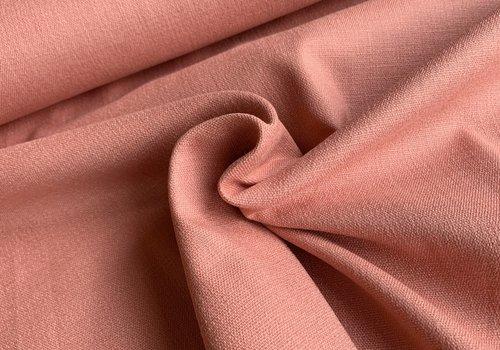 De Stoffenkamer Linen Mix STRETCH peachy pink