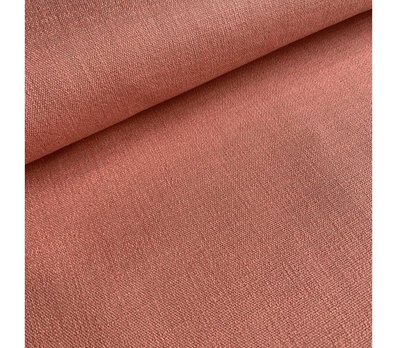Linen Mix STRETCH peachy pink