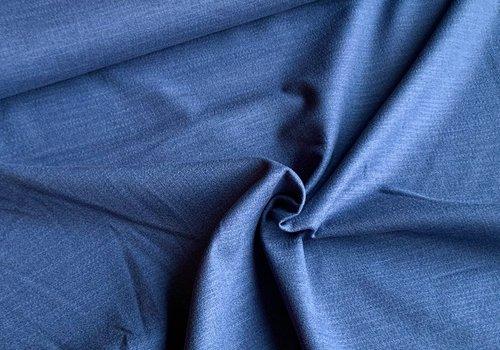 De Stoffenkamer Linen Mix STRETCH indigo blue
