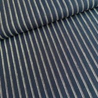 Linen Mix Stripes navy