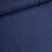 Linen double gauze Navy