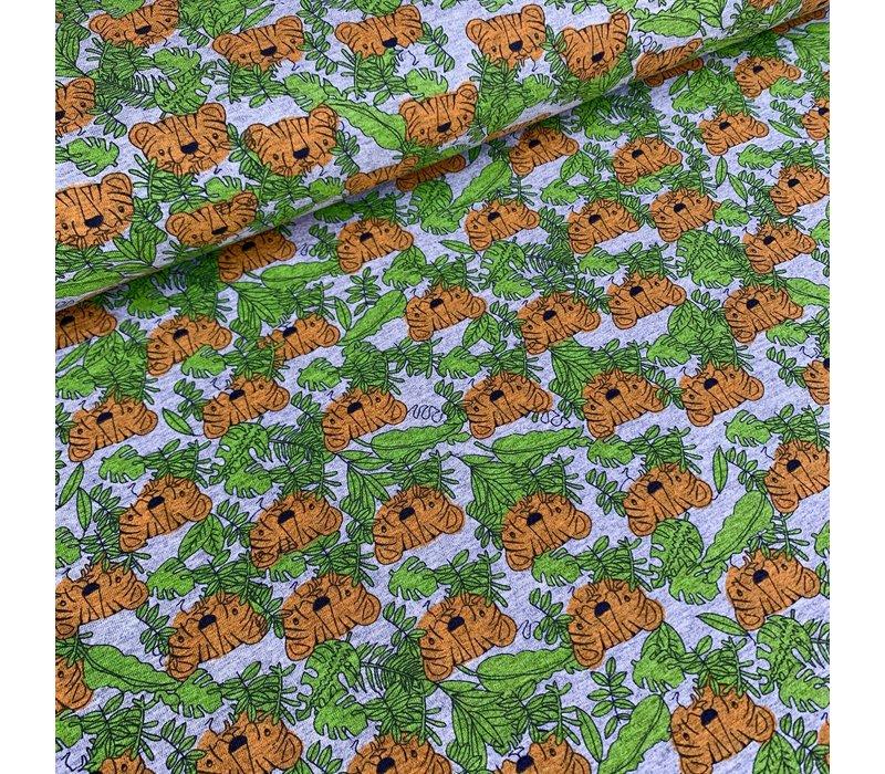 Tricot Grey melange Tigers