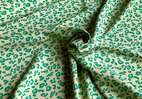 Soft Blouse Green Leopard