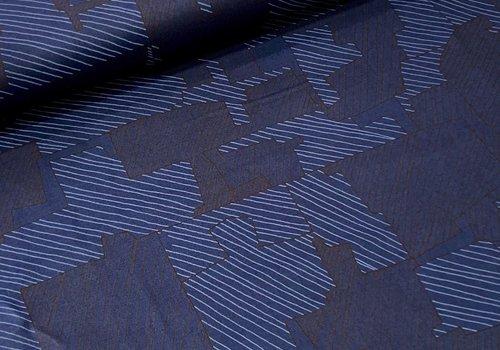Robert Kaufman Cotton Instead lines blue