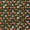De Stoffenkamer Tricot Green Modern Flowers