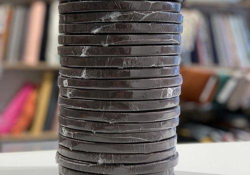 Keperband 12mm donkerbruin rol 50m
