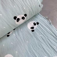 Wrinkle Cotton Mint Panda