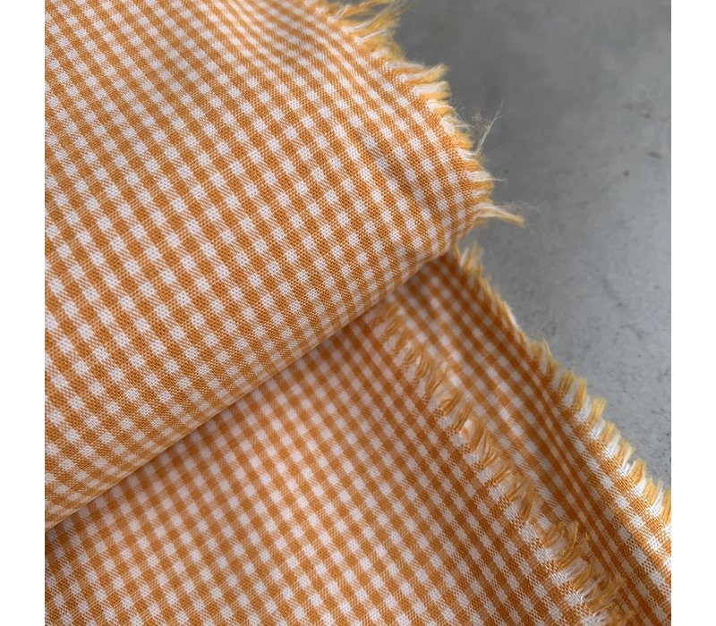 Cotton Mini checks vichy Orange