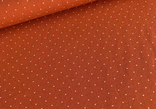 De Stoffenkamer Tricot rust mini dots