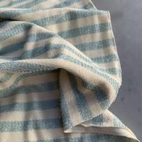 Interlock Metallic Turquoise Stripes