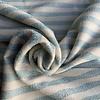 De Stoffenkamer Interlock Metallic Turquoise Stripes