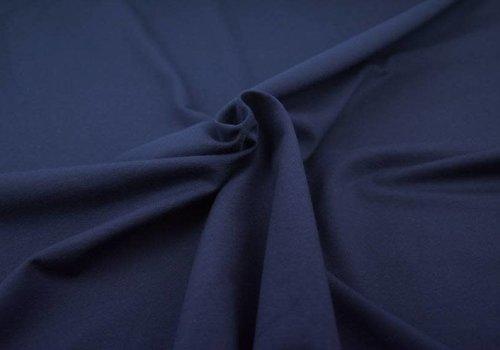 De Stoffenkamer Effen katoen marineblauw