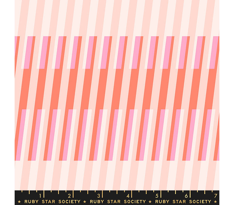 Cotton Ruby Star - Fruity Stripes Pink