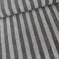 Linen Mix Stripes Grey