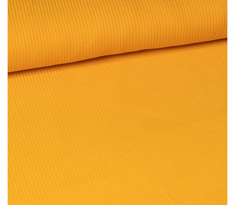 Ribbed jersey Warm Yellow