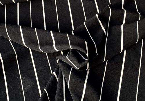 Crepe Viscose - black stripes
