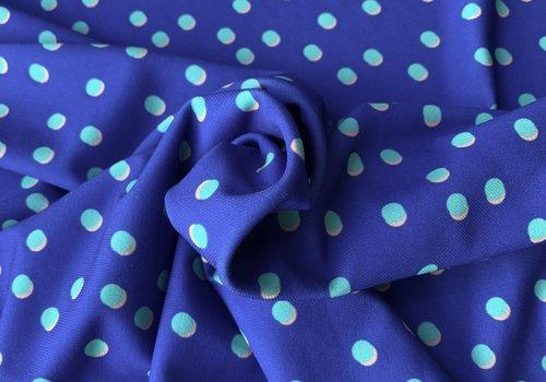 De Stoffenkamer Swimwear Lycra bright blue dots