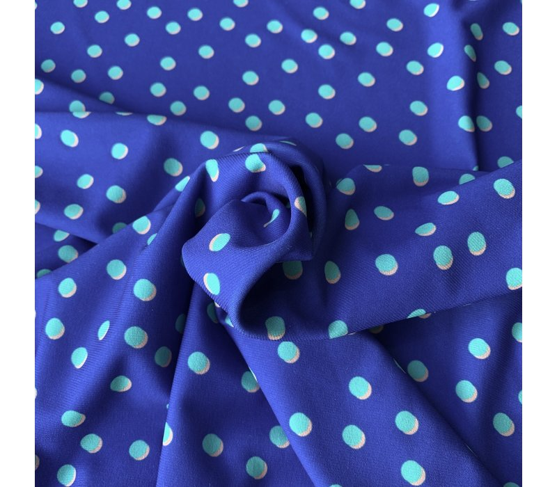 Swimwear Lycra bright blue dots