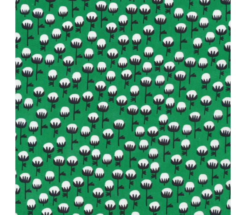 Cotton Waterland - green flowers